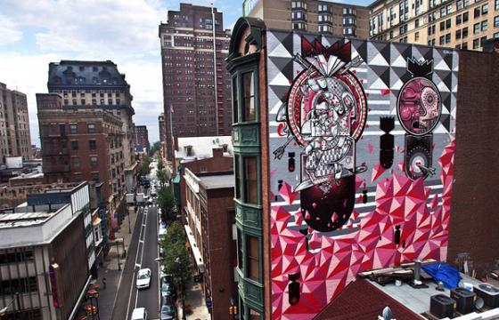 How & Nosm Mural in Philadelphia