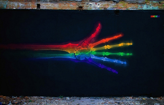 Rainbow hand X-ray by Shok1