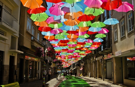 Umbrella Canopy in Agueda, Portugal