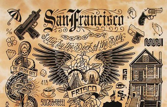 Mike Giant's SF Tattoo Flash