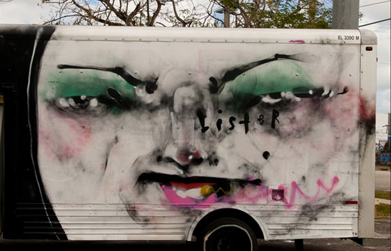 Anthony Lister Box truck in Miami