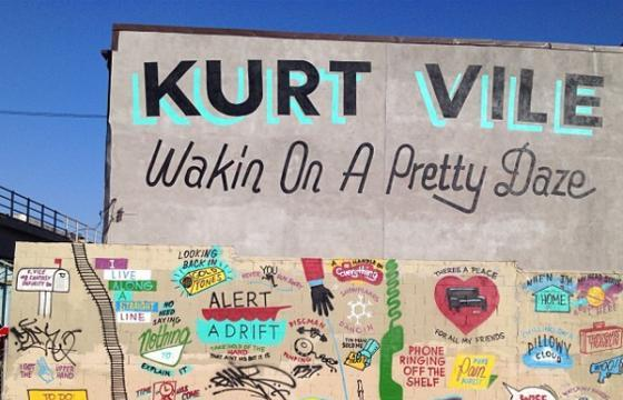 Steve Powers Mural promotes upcoming Kurt Vile Album