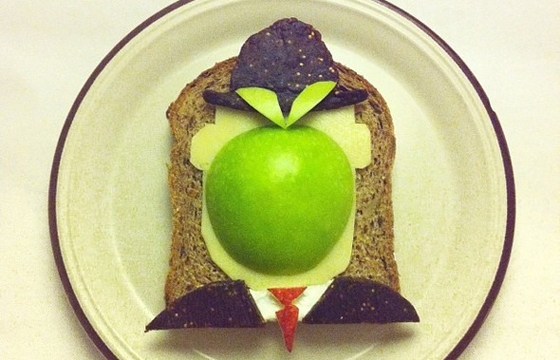 Famous Paintings Recreated with Food... as in Sandwiches...