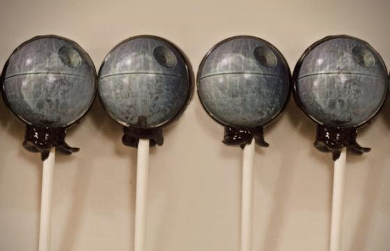 Death Star Lollipops on Etsy