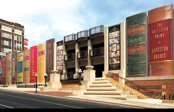 Kansas City Library Parking Garage Turned Into Gigantic Books