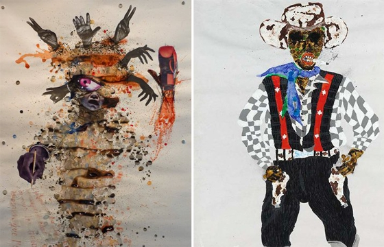 Paintings by Kura Shomali and Steve Bandoma