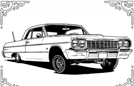 The Lowrider Coloring Book