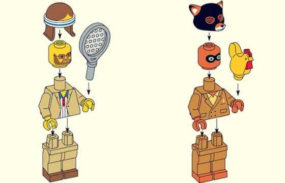 Wes Anderson Characters in LEGO by Matt Chase