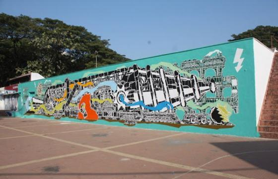 M-City mural in Mumbai, India