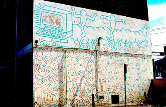 Keith Haring Mural Restoration in Melbourne