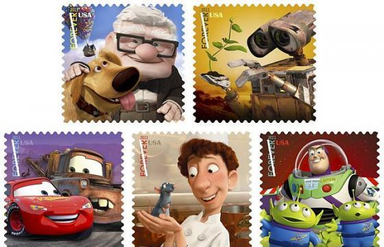 Pixar Characters to Become Stamps in 2011