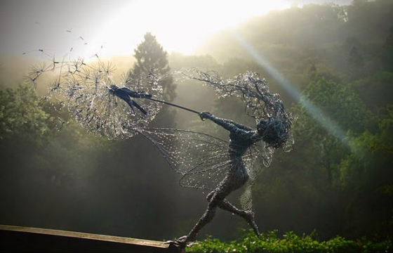 Wire Sculptures by Robin Wight