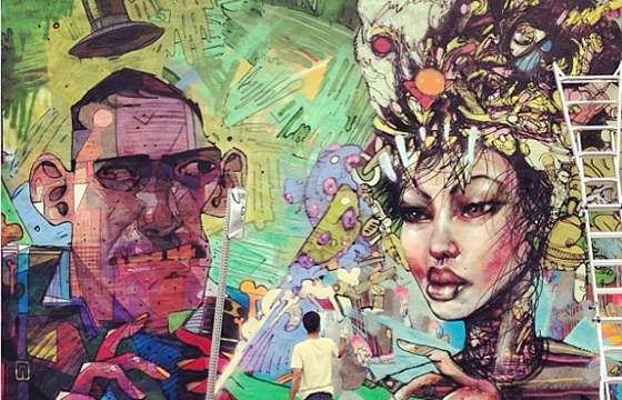 David Choe x Aryz in Los Angeles