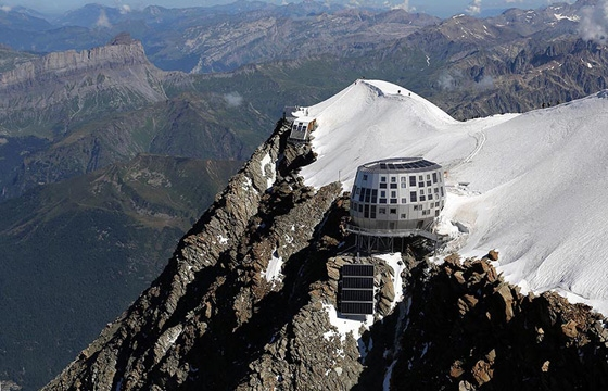 Mountain Hut Located on Europe's Highest Peak