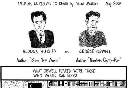 Huxley vs Orwell in Graphic Form by Stuart McMillen