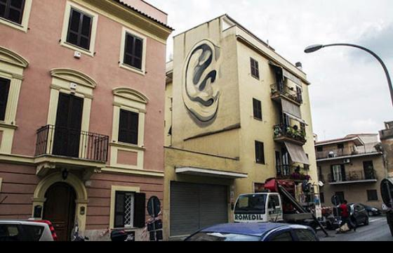 New Escif Mural in Rome