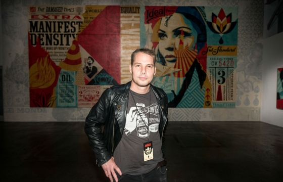 """Opening Photos From Shepard Fairey's """"Damaged"""" in LA"""