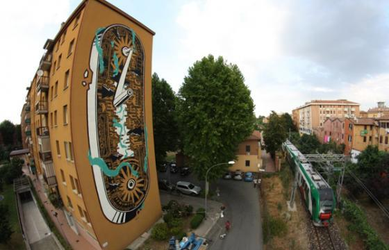 New M-City mural in Bologna, Italy