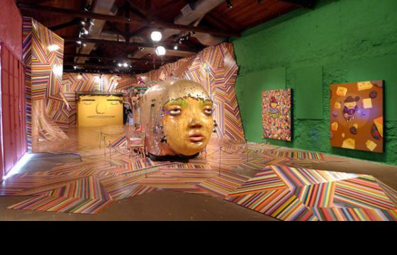 "Os Gemeos Opening Photos from ""Fermata"" @ Museu Vale"