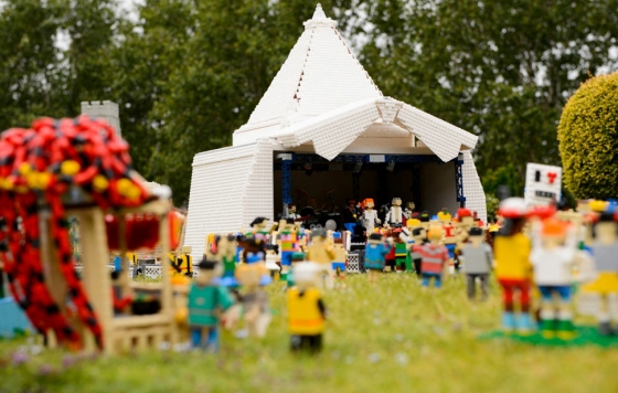 Glastonbury Festival as LEGOS