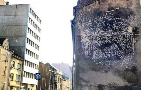 New Vhils wall in Luxembourg