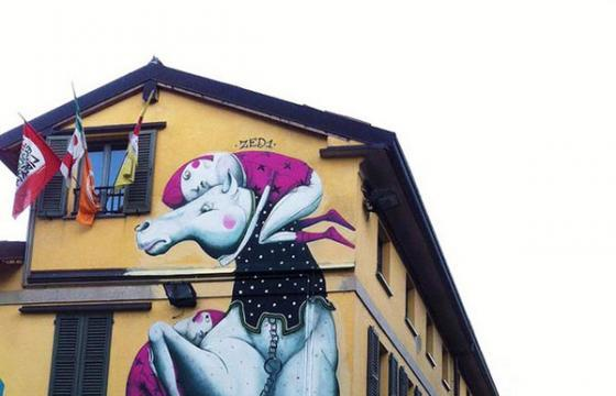 New Zed1 Mural in Carugate, Italy