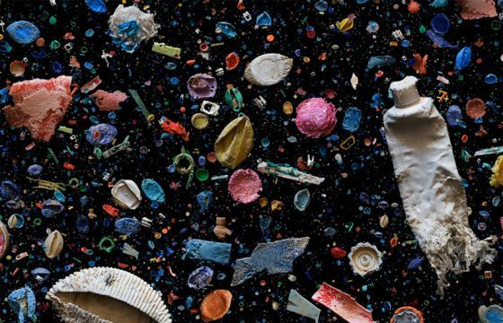 Trash Found in Ocean Collages by Mandy Barker