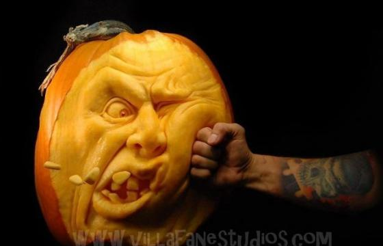 Incredible Pumpkin Carvings by Ray Villafane