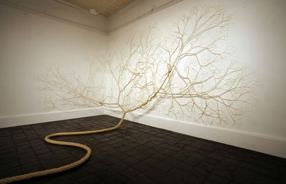Artists Unwind Rope to Look Like Roots and Trees