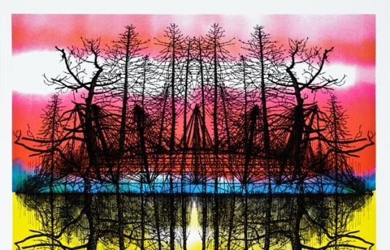 "Stanley Donwood ""Terrordome"" Print for Radiohead Tour Dates"