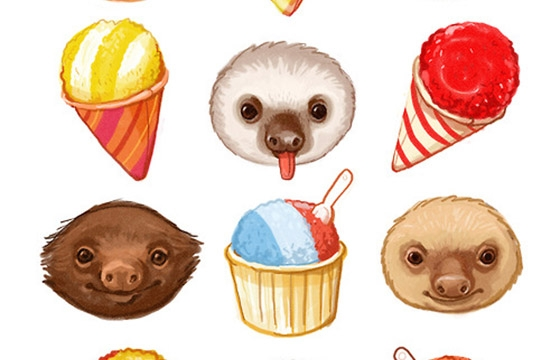 Sloths and Sno-Cones by Kathryn Selbert