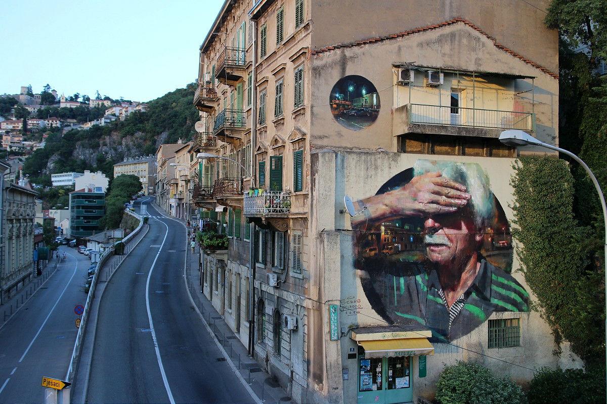 Art color rijeka - Juxtapoz Magazine Sebas Velasco Paints A New Mural In Rijeka Croatia